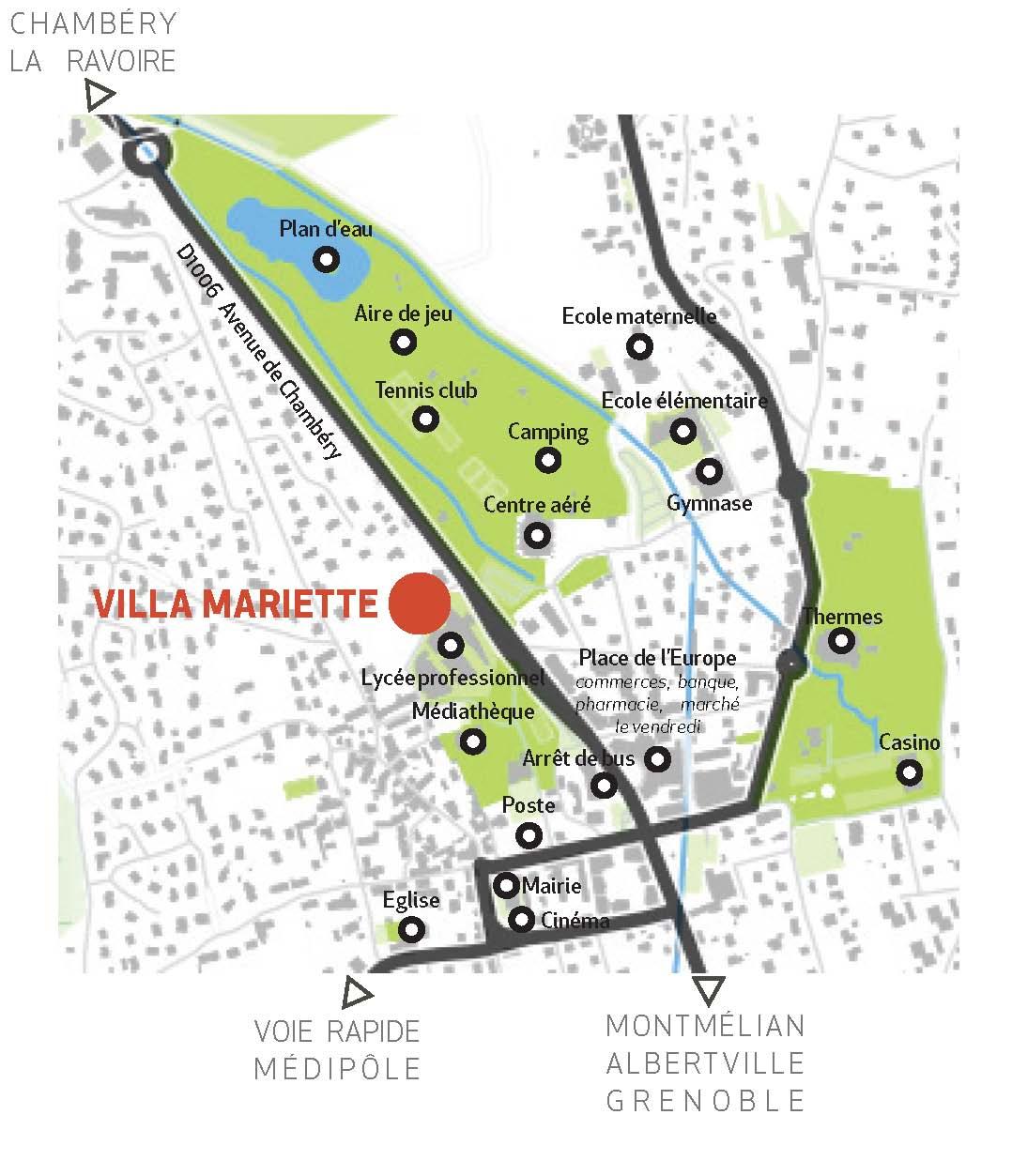 villa Mariette - challes les eaux